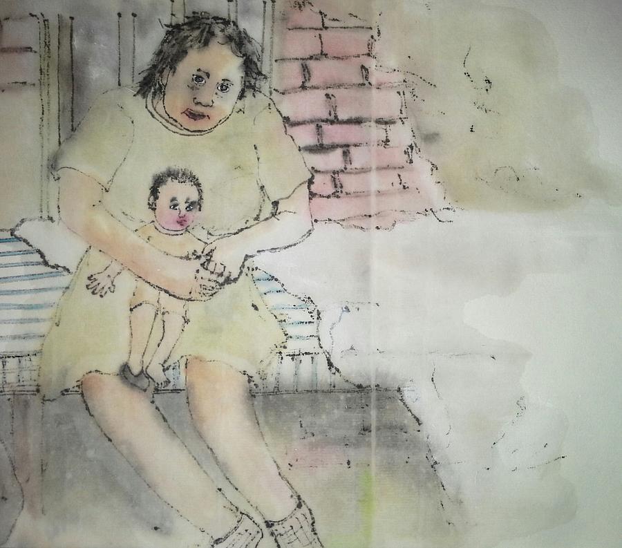 Mental Illness. Patients. Portrait. Treatments.  Abandoned Mental Institutions.  Painting - Inside Mental Illness Album by Debbi Chan