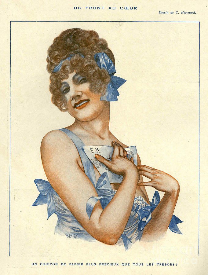 La Vie Parisienne 1916 1910s France Drawing