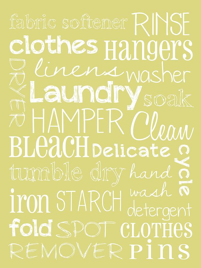 Laundry Room Digital Art  - Laundry Room Fine Art Print