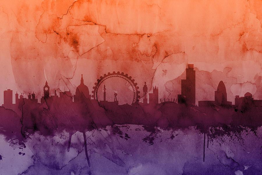 London England Skyline Digital Art
