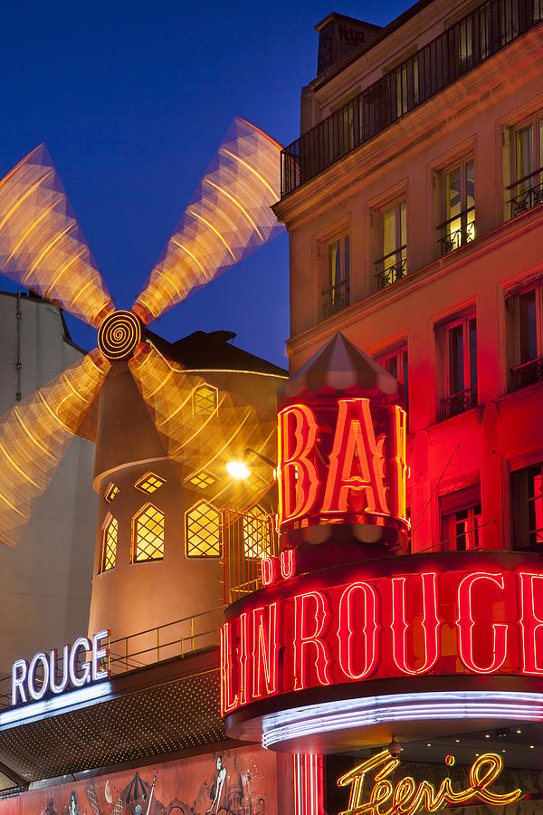 Cabaret Photograph - Moulin Rouge by Brian Jannsen