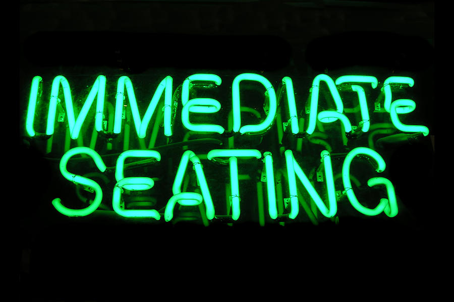 Dining Photograph - Neon Sign by Karin Hildebrand Lau