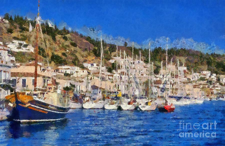 Poros Island Painting