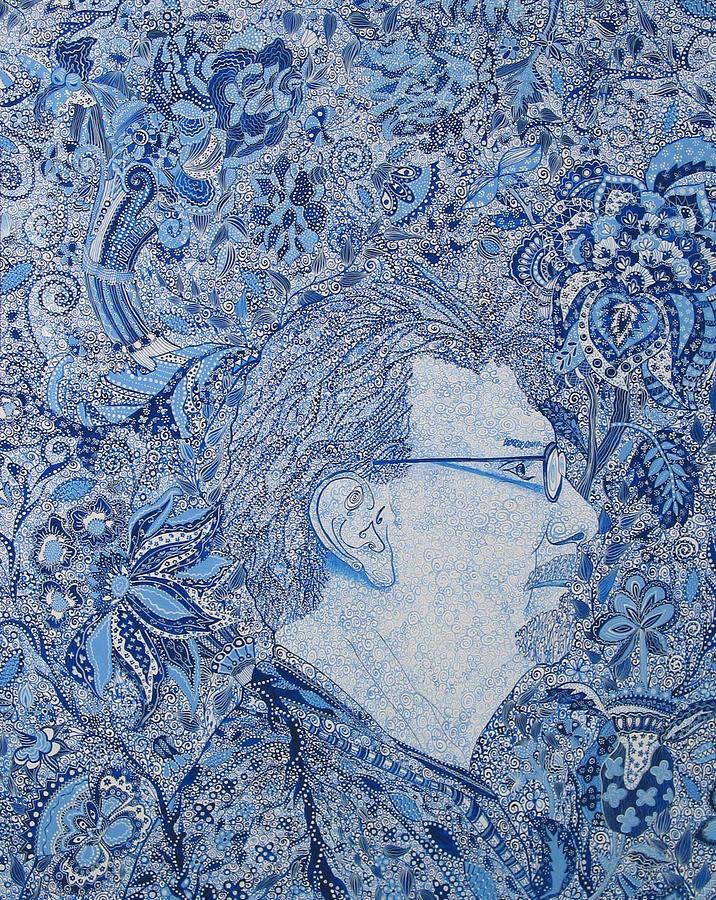 Peinture Portraits - Portrait d'un artiste par Erika Pochybova