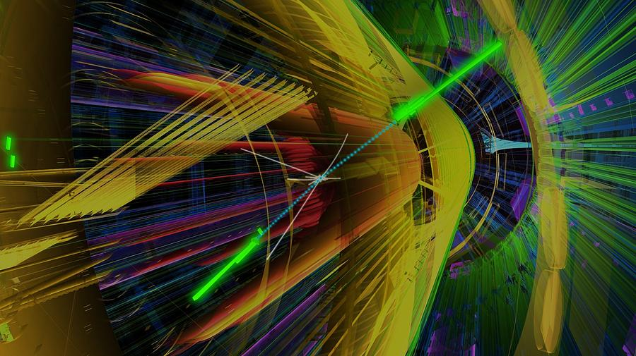 Digitally Enhanced Photograph - Proton Collision by Science Photo Library