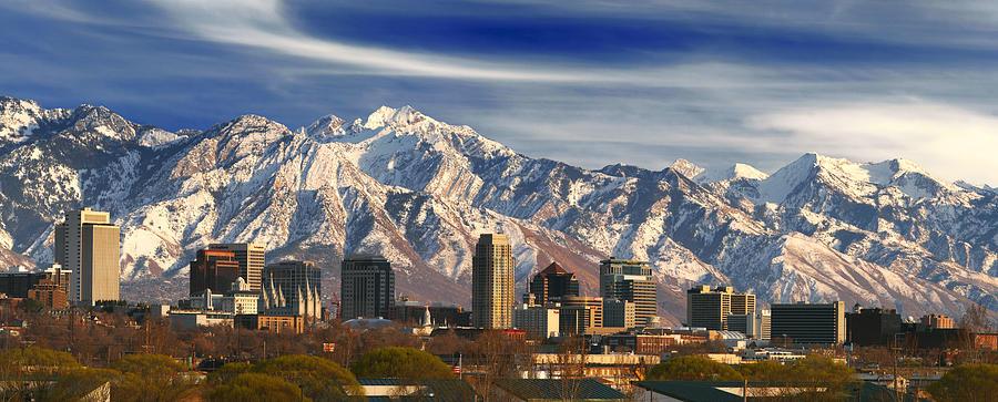 Salt Lake City Photograph - Salt Lake City Skyline by Utah Images
