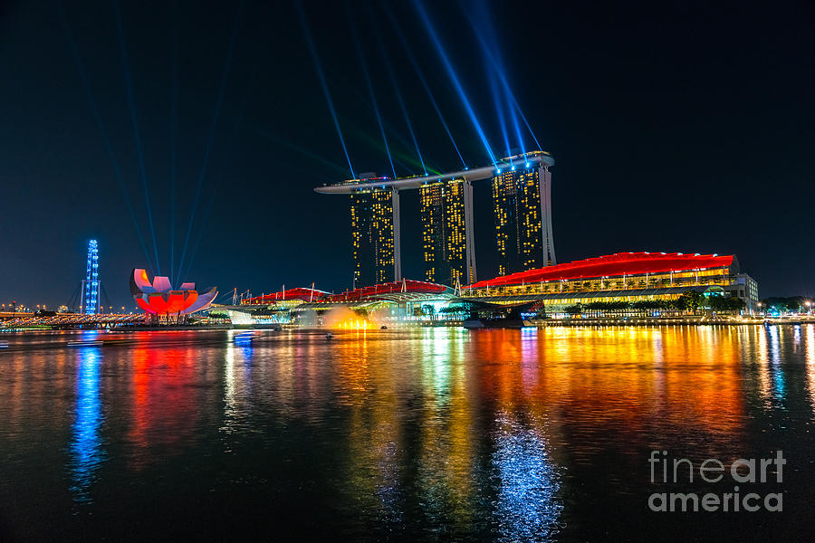 Singapore City Skyline Photograph By Luciano Mortula