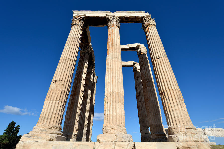 Temple Of Olympian Zeus In Athens Photograph
