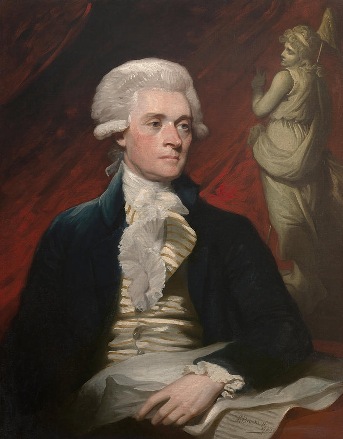Thomas Jefferson Painting - Thomas Jefferson by War Is Hell Store
