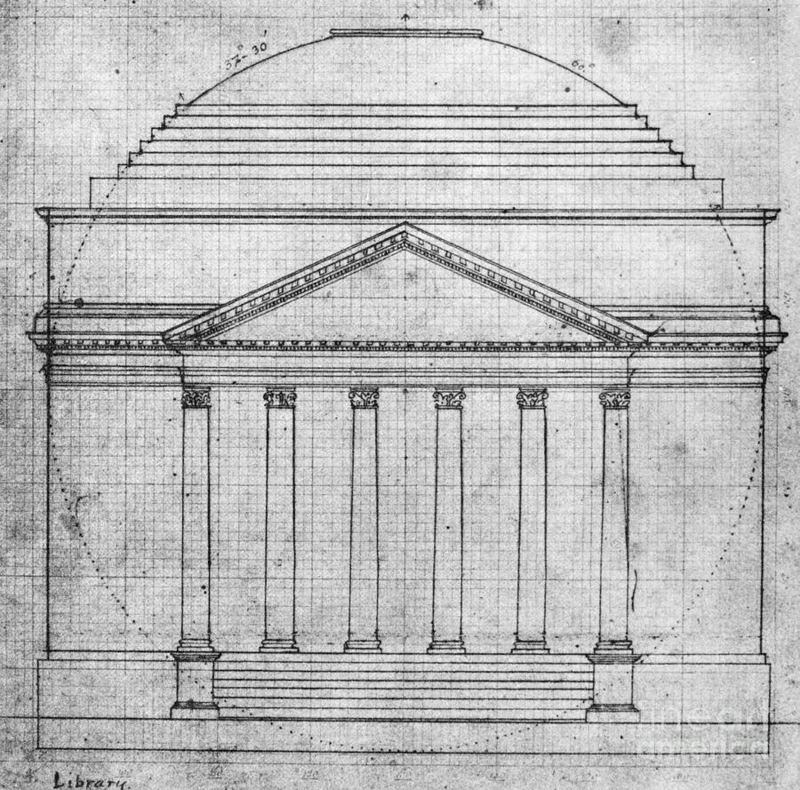 1821 Photograph - University Of Virginia by Granger