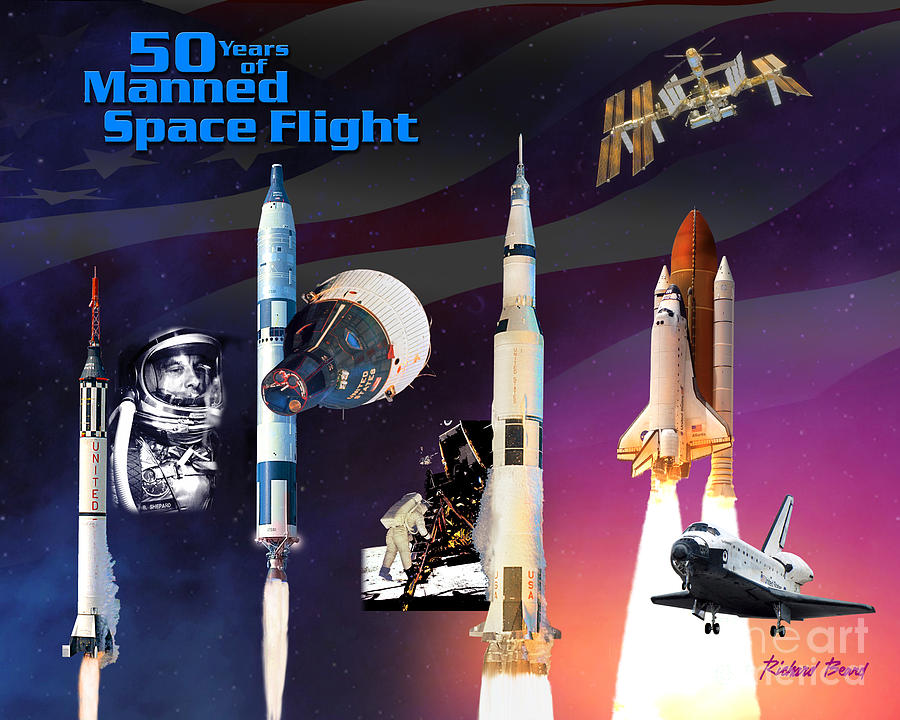 50 Years Of Manned Space Flight Digital Art