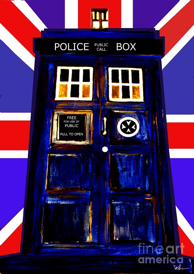 50 Years Of The Tardis  Painting  - 50 Years Of The Tardis  Fine Art Print