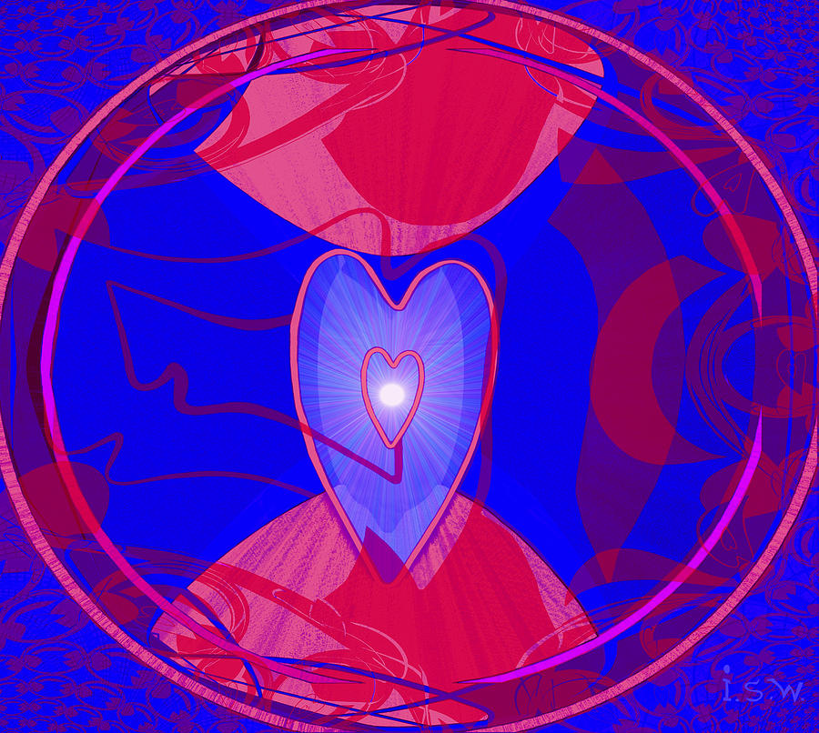 505 - Pulsing  Heart   Digital Art  - 505 - Pulsing  Heart   Fine Art Print