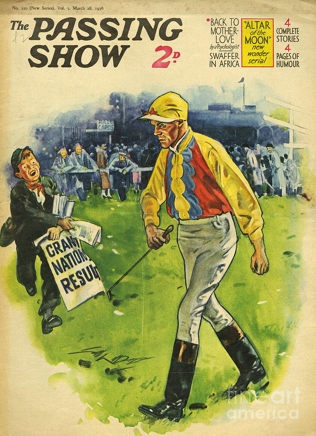 1930s,uk,the Passing Show,magazine Cover Drawing  - 1930s,uk,the Passing Show,magazine Cover Fine Art Print