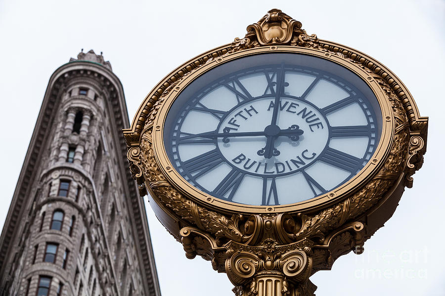 5th Avenue Clock Photograph