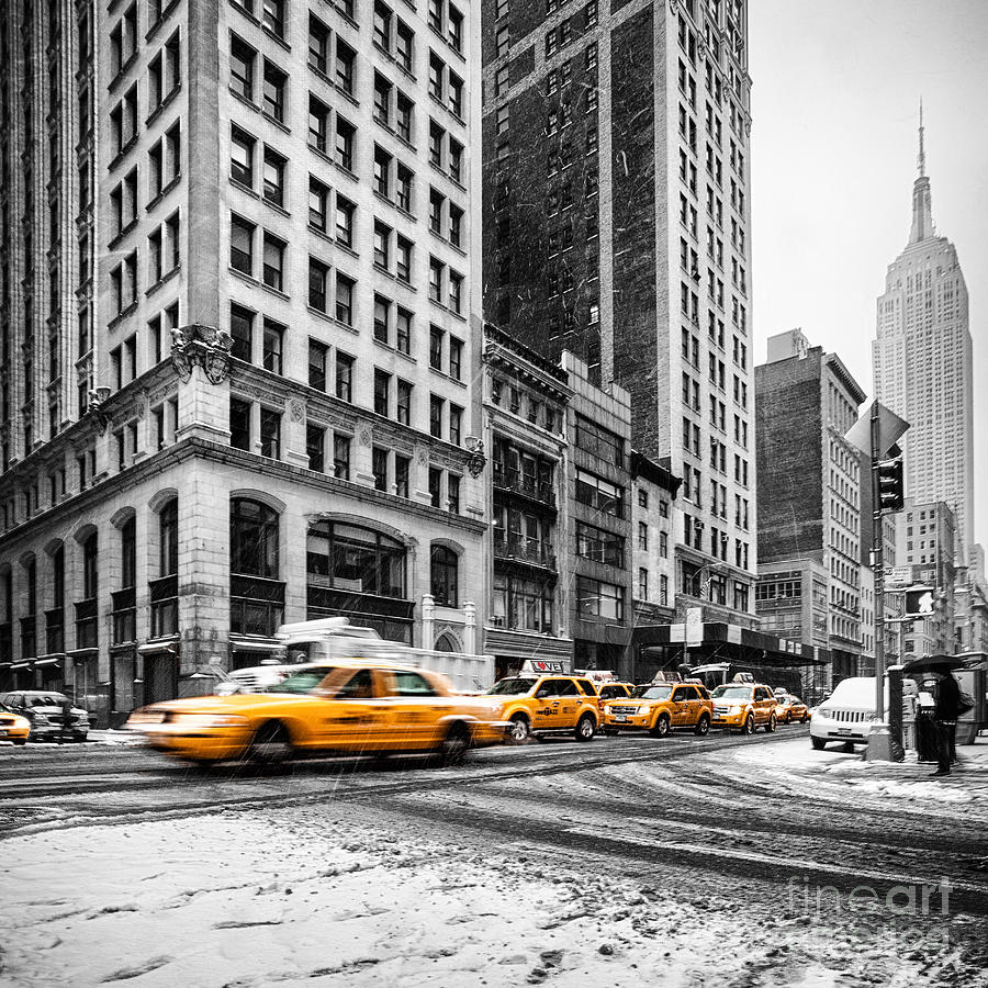 5th Avenue Yellow Cab Photograph
