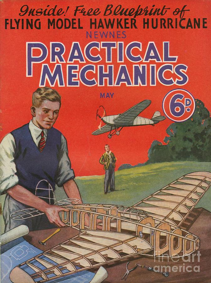 1930s Uk Practical Mechanics Magazine Drawing