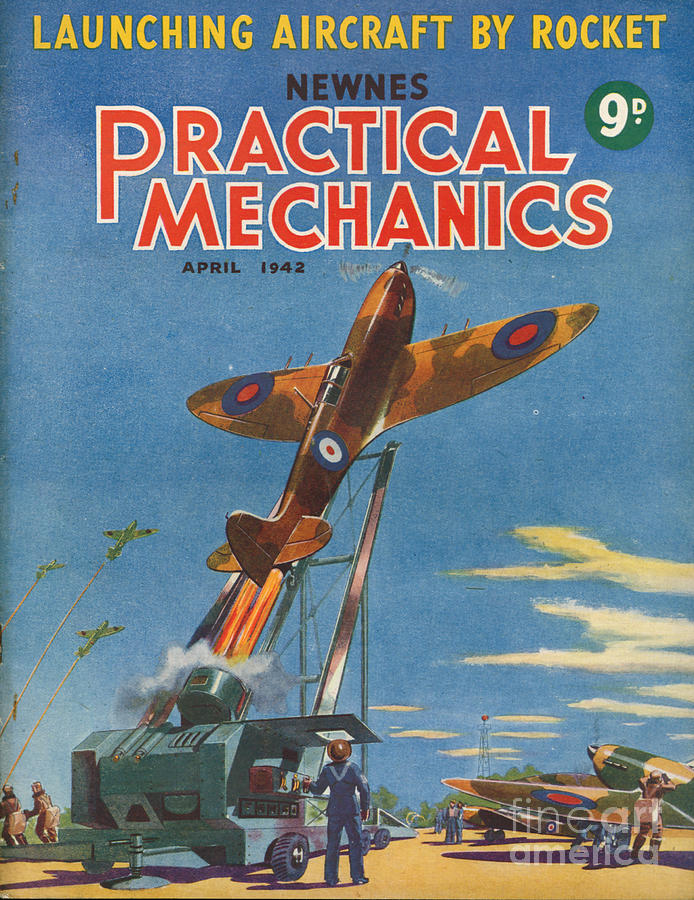1940s Uk Practical Mechanics Magazine Drawing