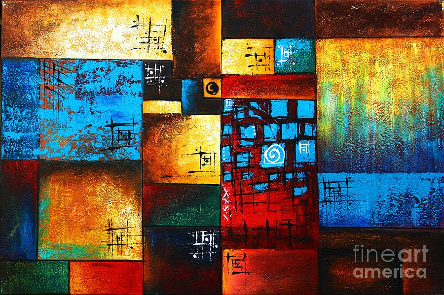 Abstract Oil Painting Modern Contemporary Art House Wall