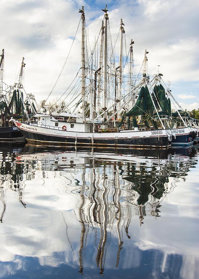 Bayou Labatre Al Shrimp Boat Reflections Photograph
