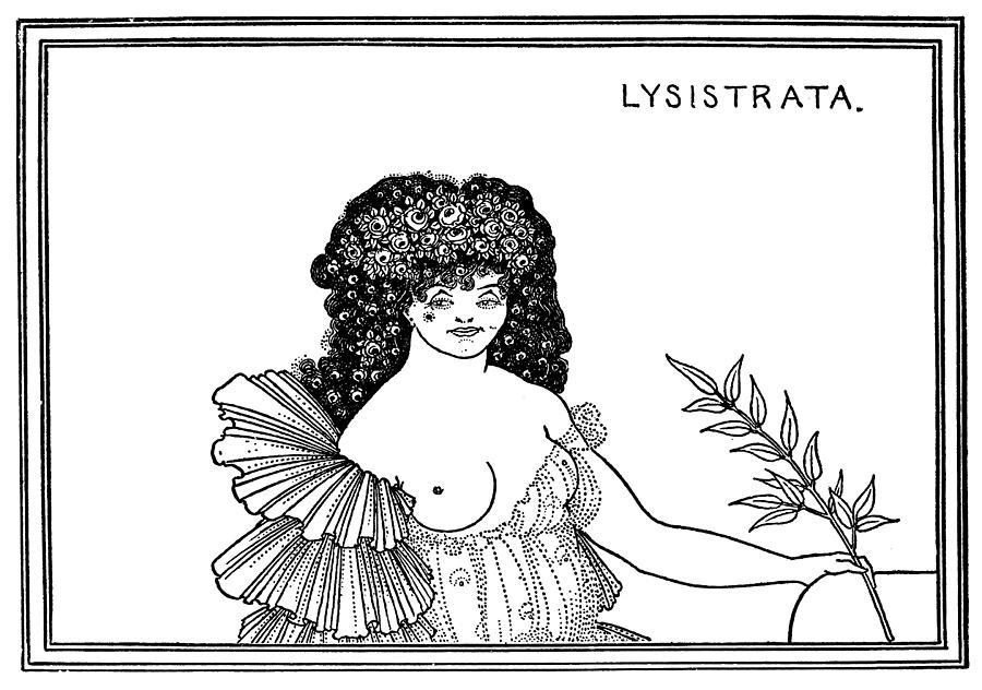 Beardsley Lysistrata, 1896 Drawing by Granger