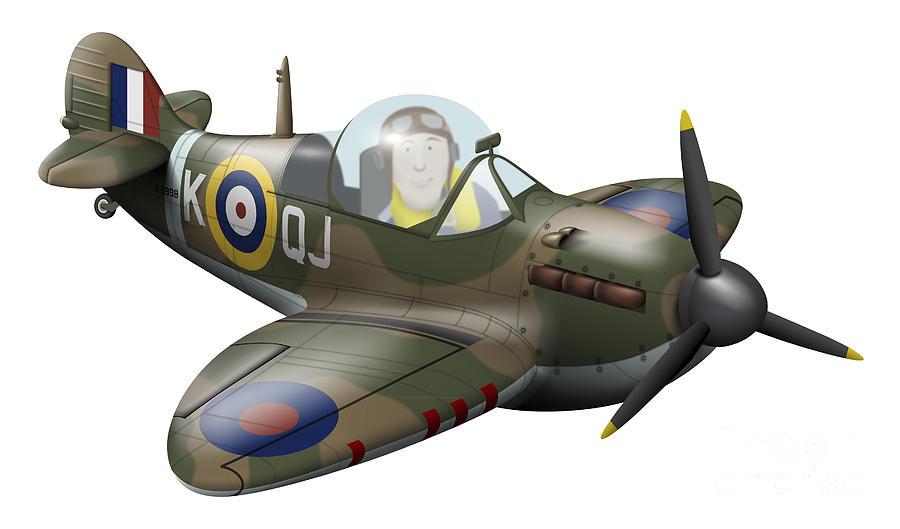 Cartoon Illustration Of A Royal Air Digital Art