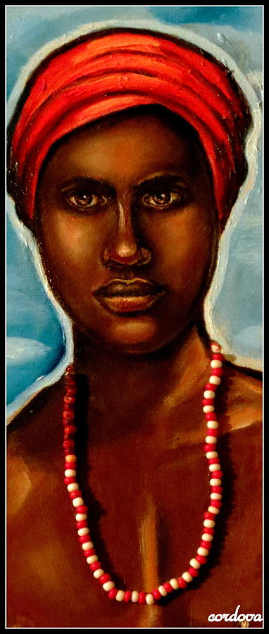 Chango -santeria Warrior Painting  - Chango -santeria Warrior Fine Art Print