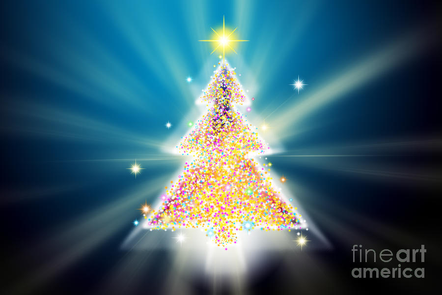digital art christmas tree - photo #5
