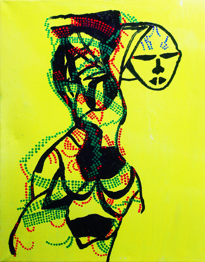 Dinka Lady - South Sudan Painting