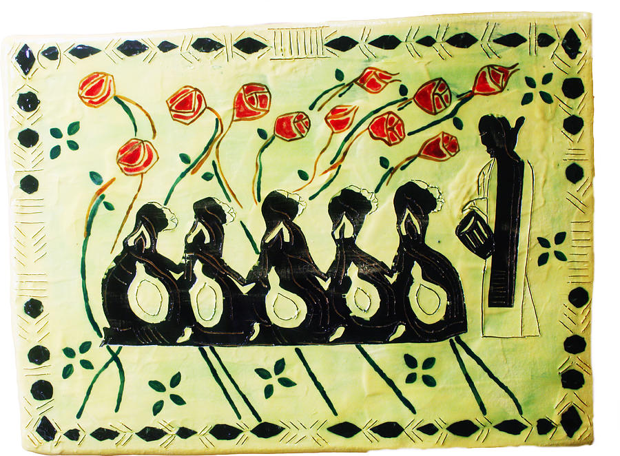 Five Wise Virgins Ceramic Art