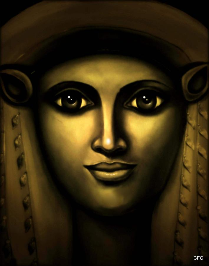Hathor-egyptian Goddess Painting