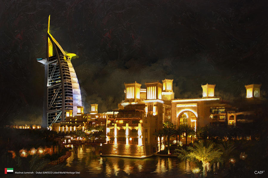 United Arab Emiratescultural Sites Of Al Ain (hafit Painting - Madinat Jumeirah by Catf