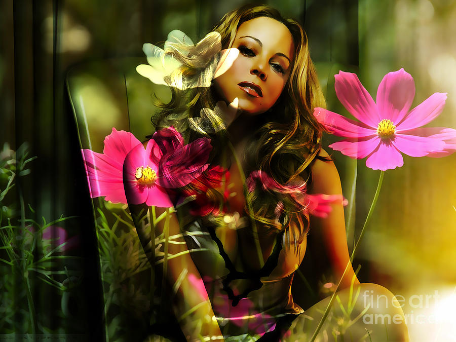 Mariah Carey Mixed Media - Mariah Carey by Marvin Blaine