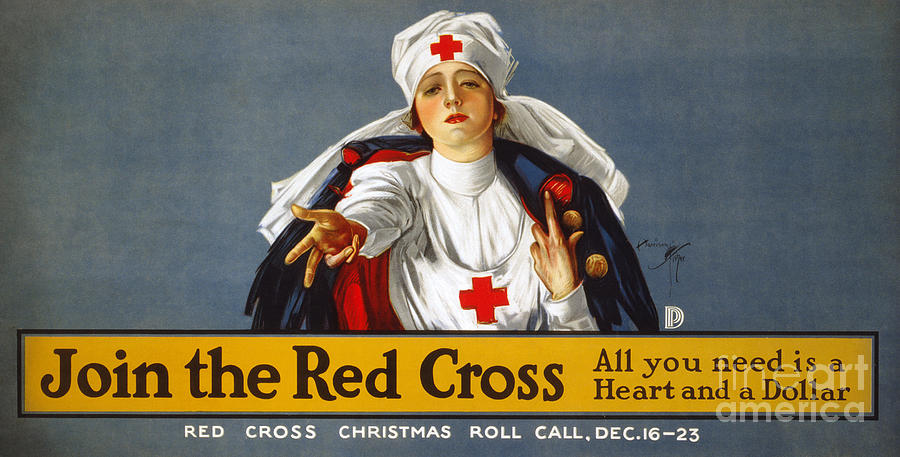 Red Cross Poster, 1917 Photograph