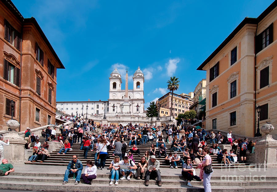 Spanish Steps At Piazza Di Spagna Photograph