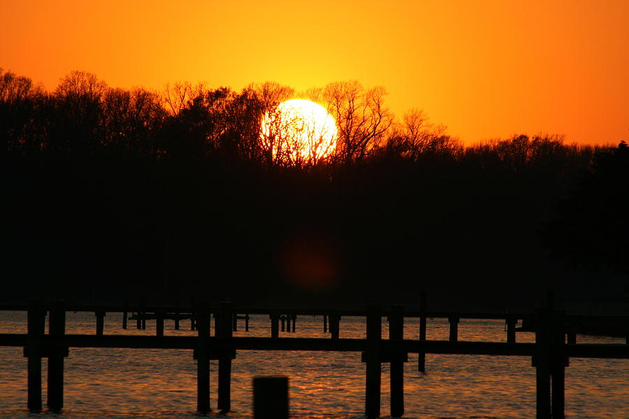 Sunset Over Chesapeake Bay Photograph  - Sunset Over Chesapeake Bay Fine Art Print