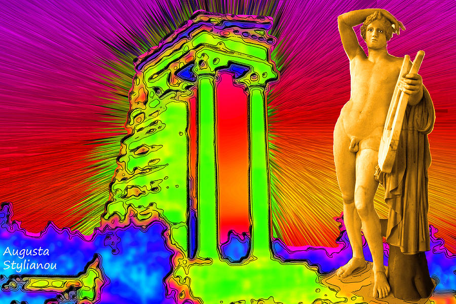 Temple Of Apollo Digital Art  - Temple Of Apollo Fine Art Print
