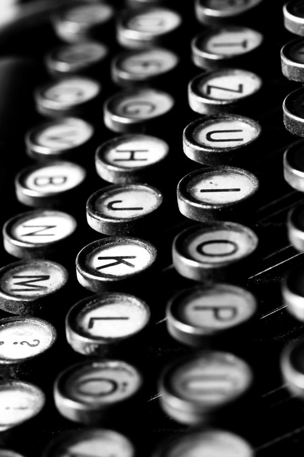 Typewriter Keys Photograph  - Typewriter Keys Fine Art Print
