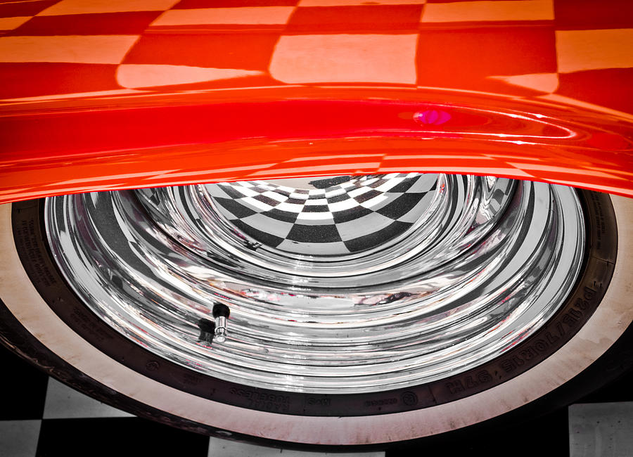 Chrome Wheel Photograph - 60s Look by Phil motography Clark