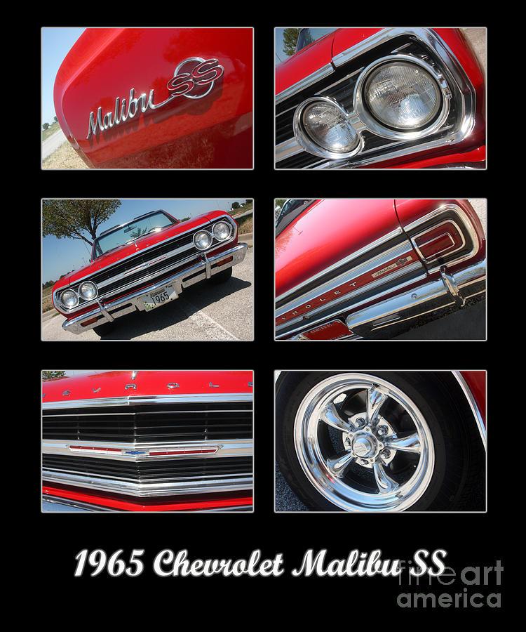 65 Malibu Ss Poster Photograph