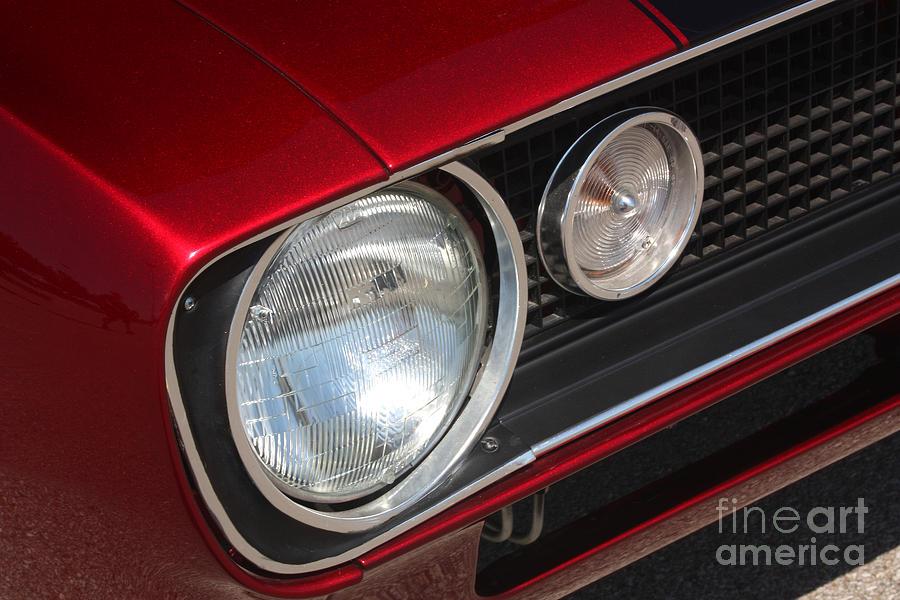 67 Camaro Ss Headlight-8724 Photograph