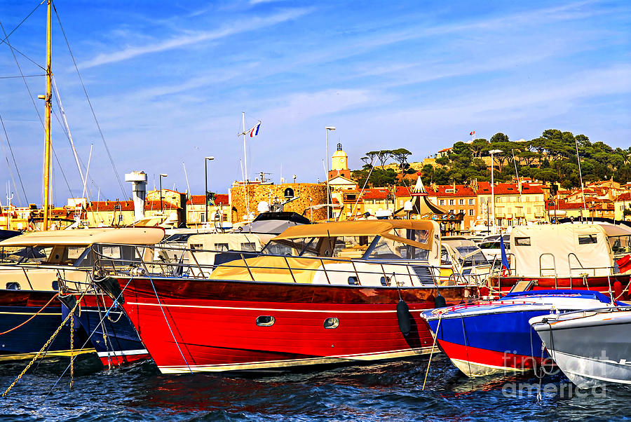 Boats At St.tropez Photograph