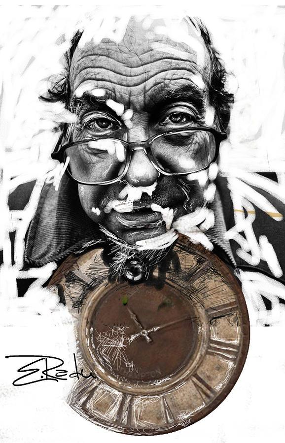 Abstract Painting - Digital Art - Er Ink by Enache  Radu