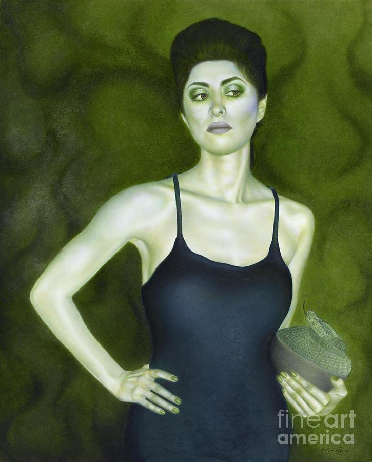 Woman Painting - 7 Invidia by Lorena Rivera