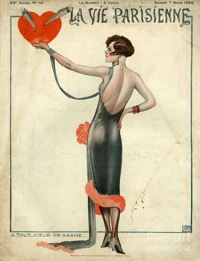 La Vie Parisienne  1925  1920s France Drawing  - La Vie Parisienne  1925  1920s France Fine Art Print