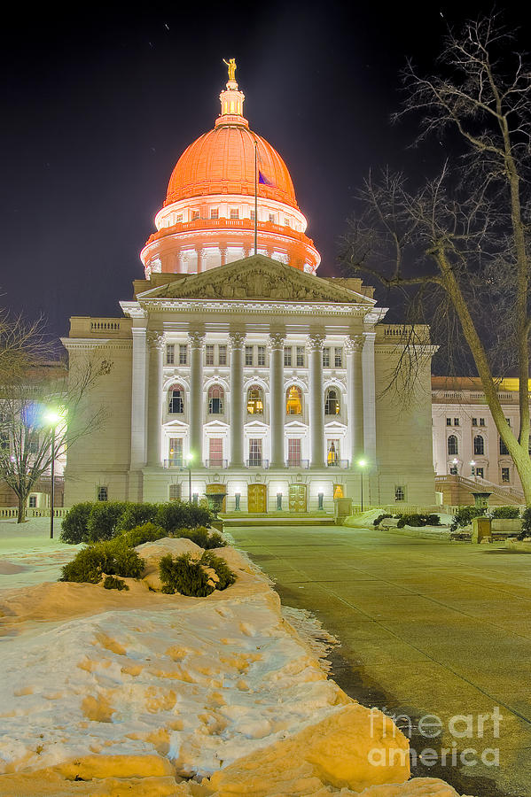 Madison Capitol Photograph  - Madison Capitol Fine Art Print