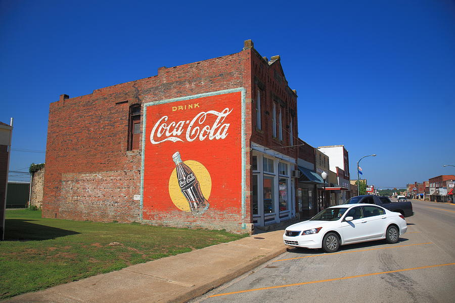 Route 66 coca cola ghost mural photograph by frank romeo for Route 66 mural
