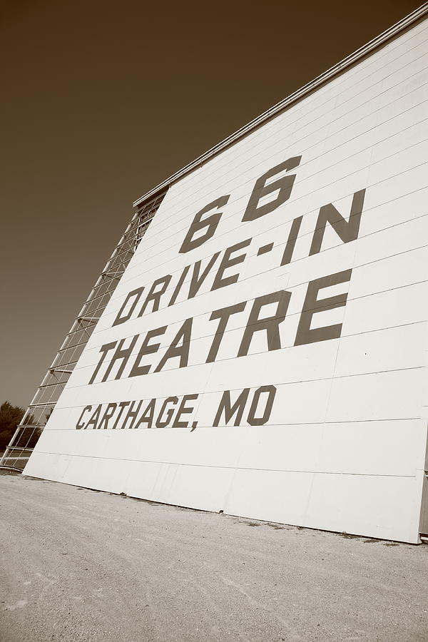 Route 66 Drive-in Theatre Photograph