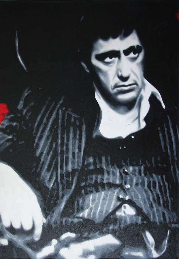 Ludzska Painting - Scarface by Luis Ludzska