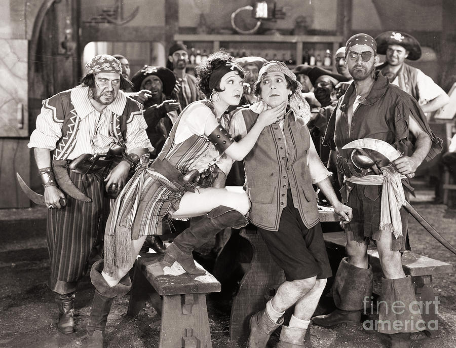 Silent Film Still: Pirates Photograph  - Silent Film Still: Pirates Fine Art Print